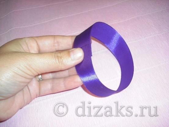 кольцо из ленты