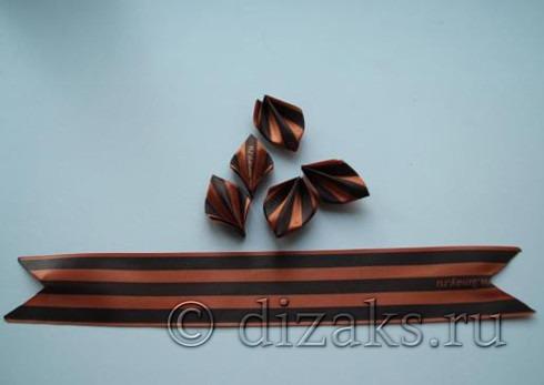 заготовки лепестков канзаши