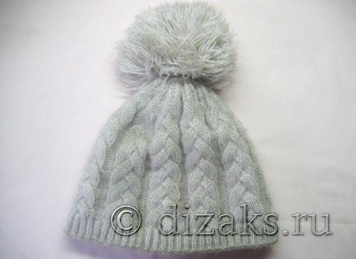 двухслойная шапка спицами
