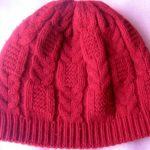 Миниатюра к статье Двойная шапка для женщин с узором