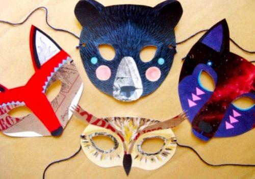 карнавальная маска из бумаги