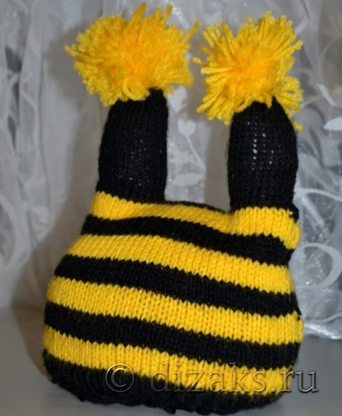 шапочка пчелка спицами