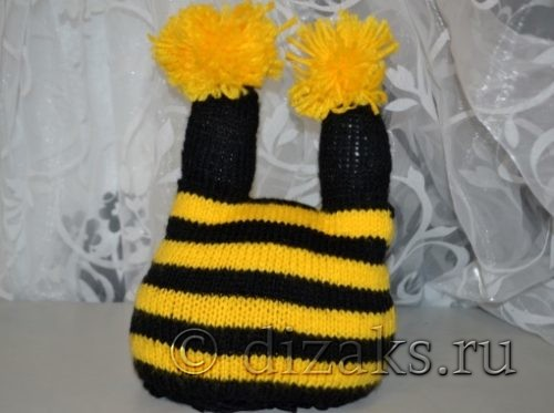 шапка пчелка