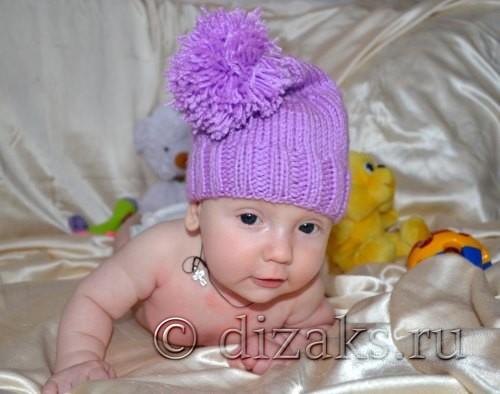 шапка гномик