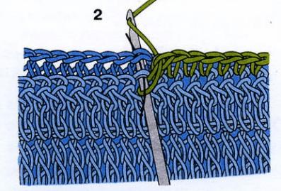 Связывание деталей столбиками без накида