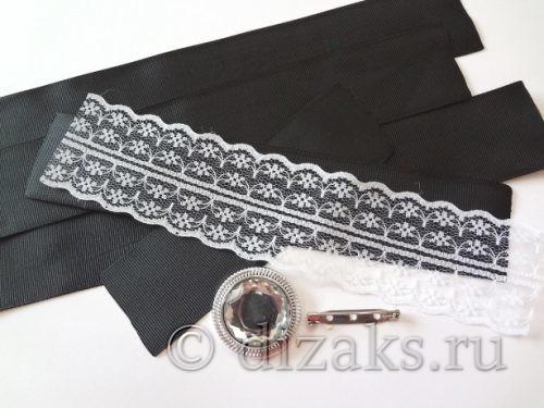 материалы для изготовления галстука канзаши