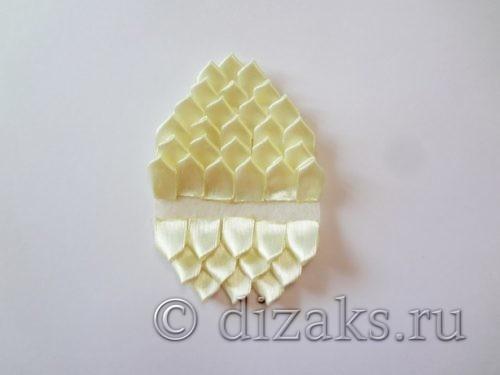 заготовка пасхальное яйцо канзаши