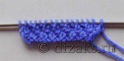вязание жемчужного узора