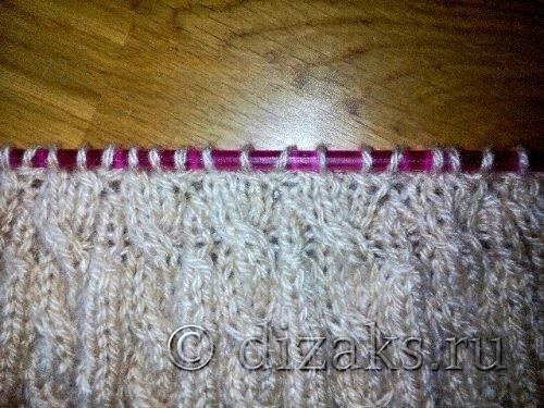 вязание кос спицами