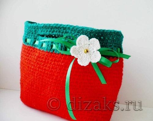 детская сумка крючком