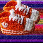 Миниатюра к статье Кеды крючком для малыша, подробное описание для начинающих