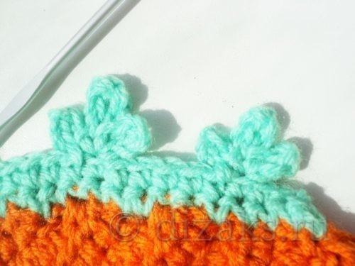 вязание украшения сумки