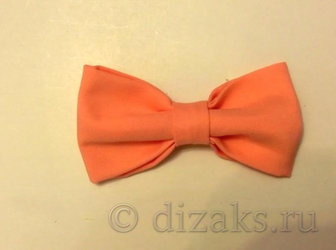 галстук-бабочка из ткани