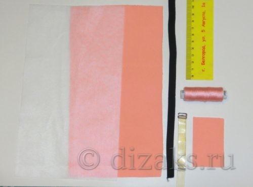 материалы для пошива галстука бабочки