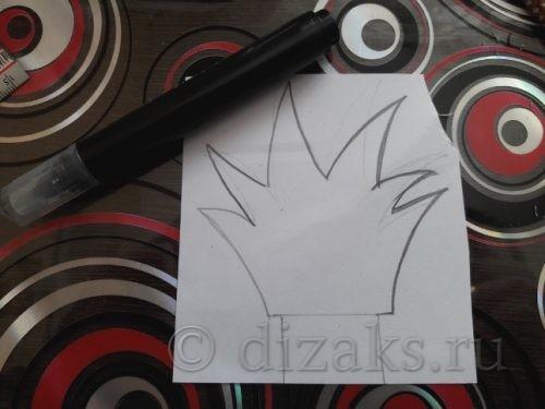 нарисовать корону