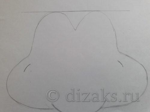оформление выкройки маски лягушки