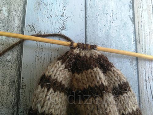 вязание хвостика шапки