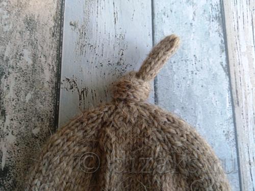 макушка шапки спицами