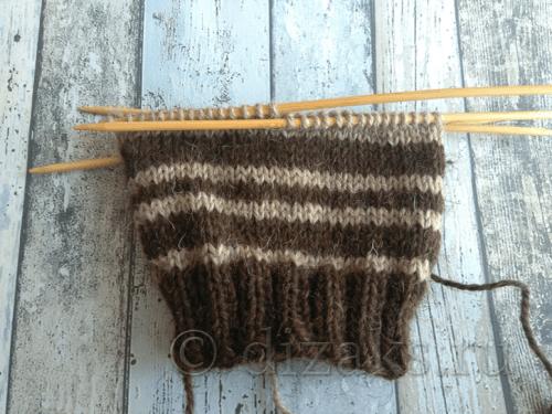 вязание полос
