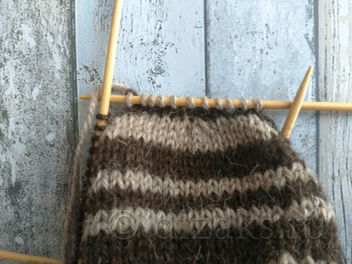 вязание макушки шапки спицами