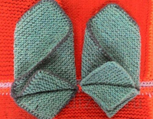 следки из квадратов спицами