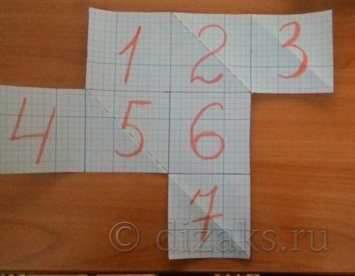 схема вязания следков из квадратов спицами
