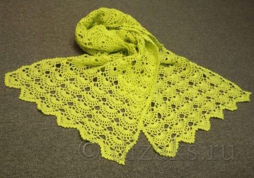 Ажурный шарф крючком: схема и описание