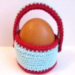 Миниатюра к статье Вяжем корзинку крючком для пасхального яйца