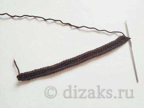 обвязать цепочку столбиками без накида