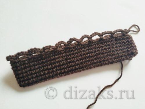 первый ряд вязания арочек