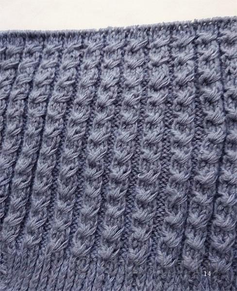 вязание макушки шапки-чулка
