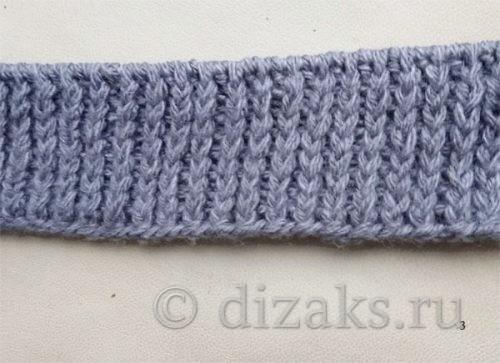 вязание шапки резинкой