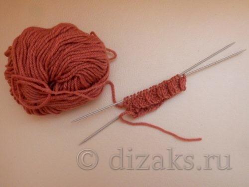 перевести вязание на две спицы