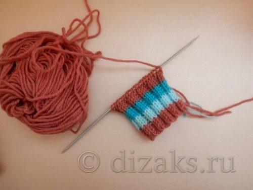 вязание резинки варежки