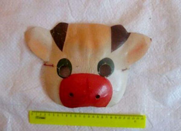 маска для быка из папье маше