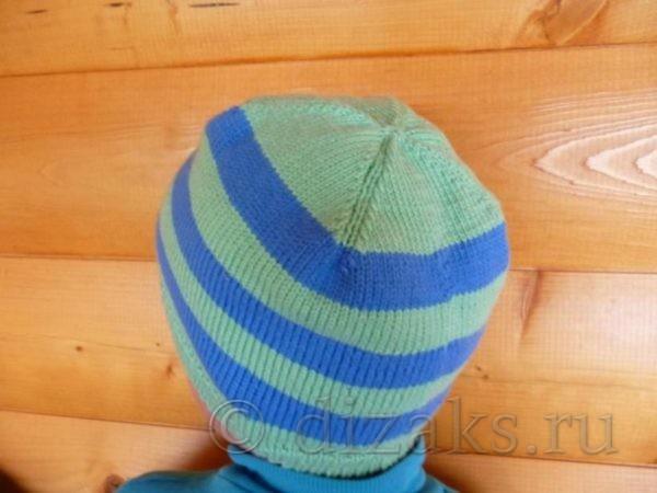 Детская шапочка круговыми спицами (без швов) на ребенка 4-5 лет
