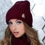 модные вязаные шапки 2020